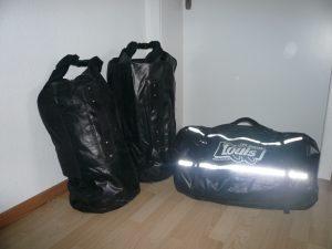 diverse Gepäckrollen für das Motorrad