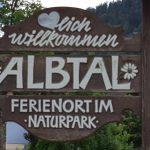 Ortsschild in Albtal