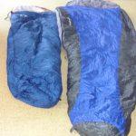 zwei Schlafsäcke nebeneinander im Größenvergleich