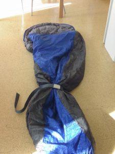 improvisierter Kinderschlafsack