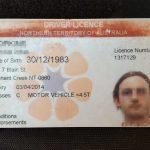 Kartenführerschein aus Australien