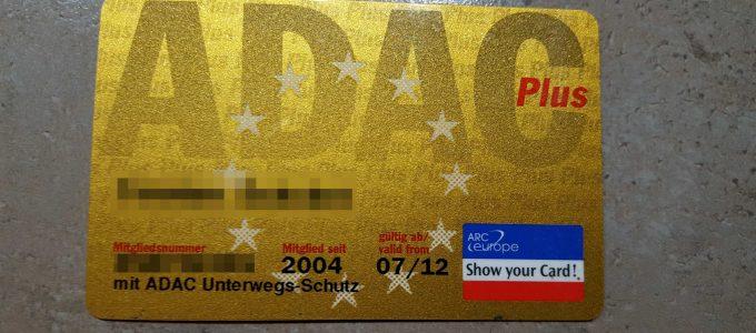 ADAC-Mitgliederkarte