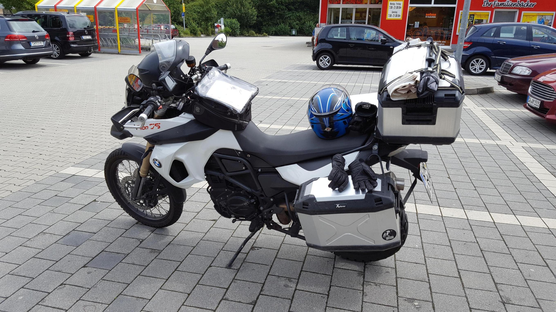 BMW F800GS, voll beladen