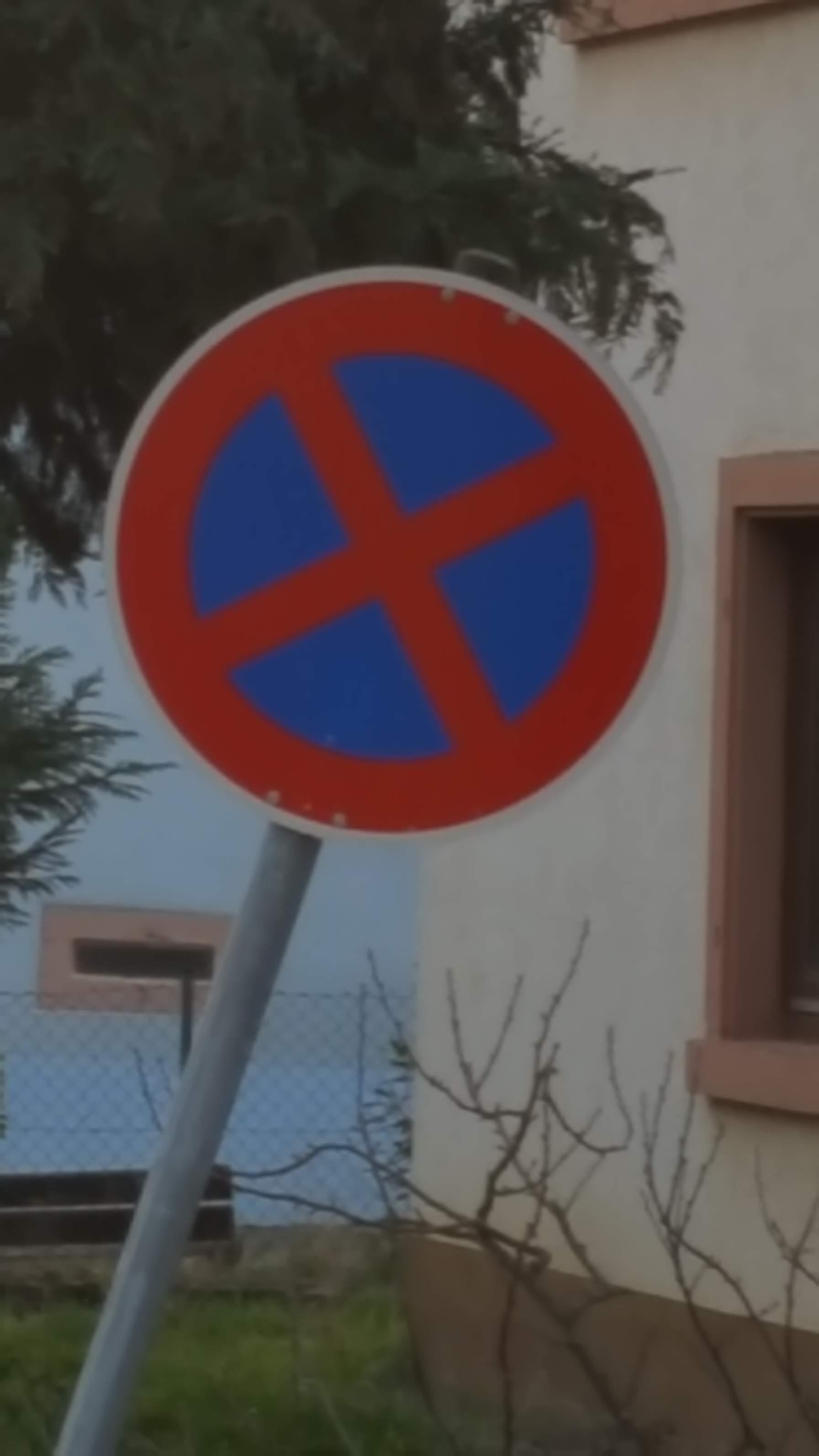 Halteverbotszeichen, Verkehrsschild