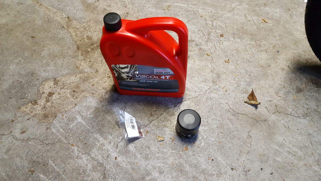 Moterenöl, Ölfilter und Dichtringe