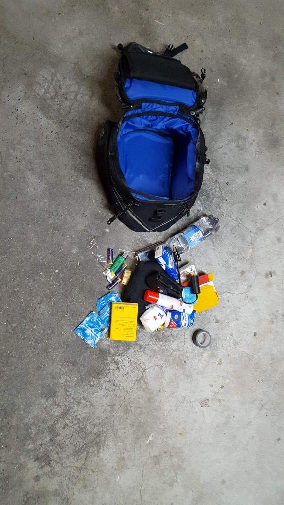 leerer Tankrucksack