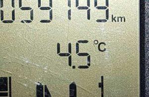 4,5° auf dem Thermometer