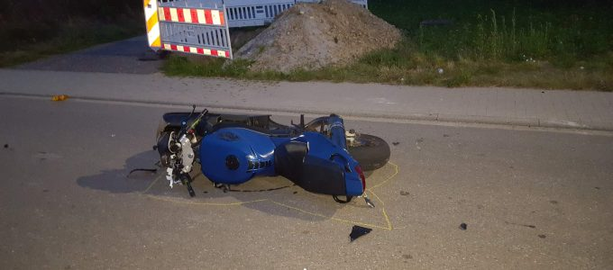 Verunfalltes Motorrad