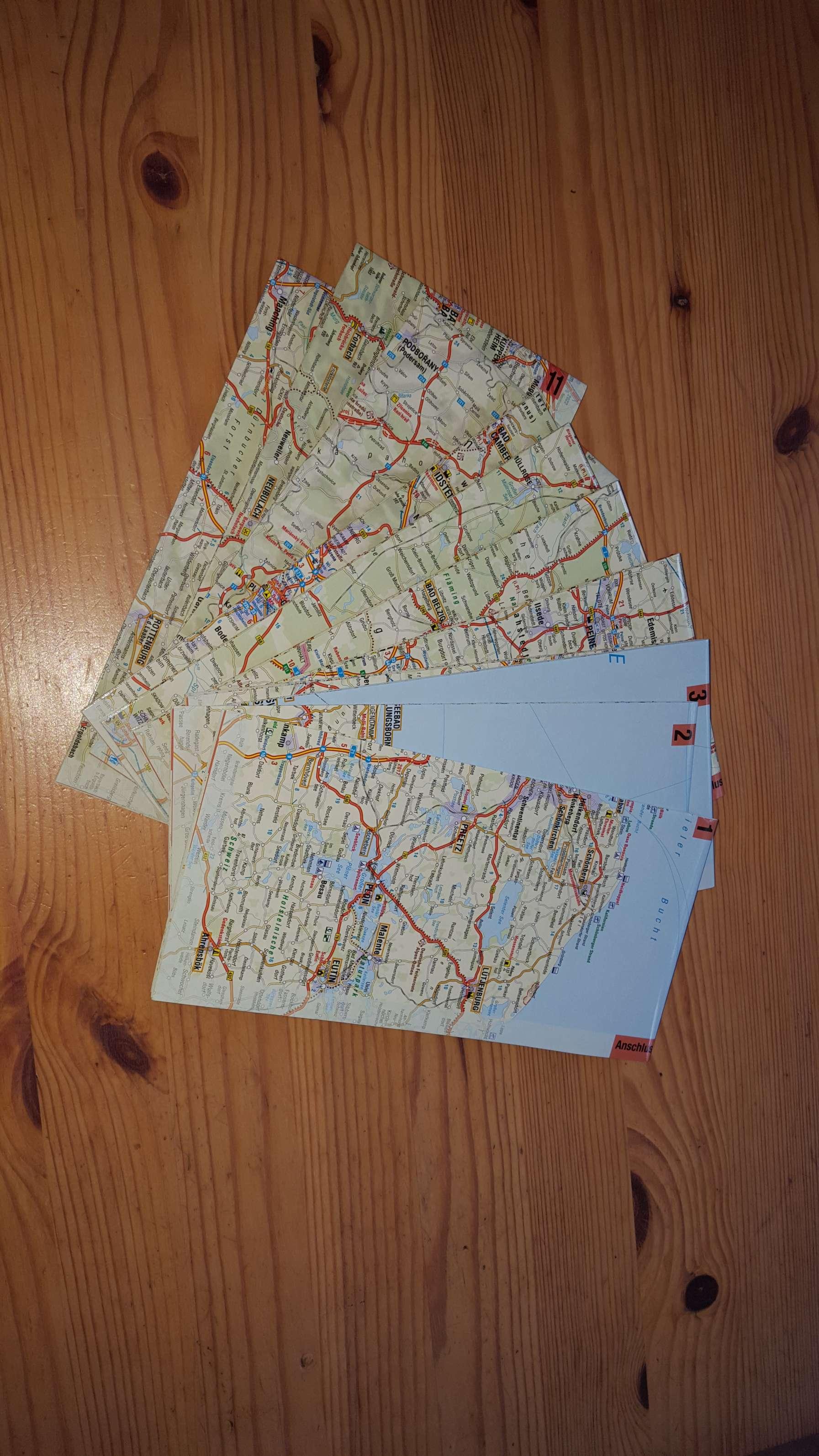 FolyMaps: Laminierte Landkarte für Motorradfahrer