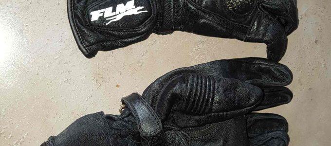 Motorradhandschuhe, sauber