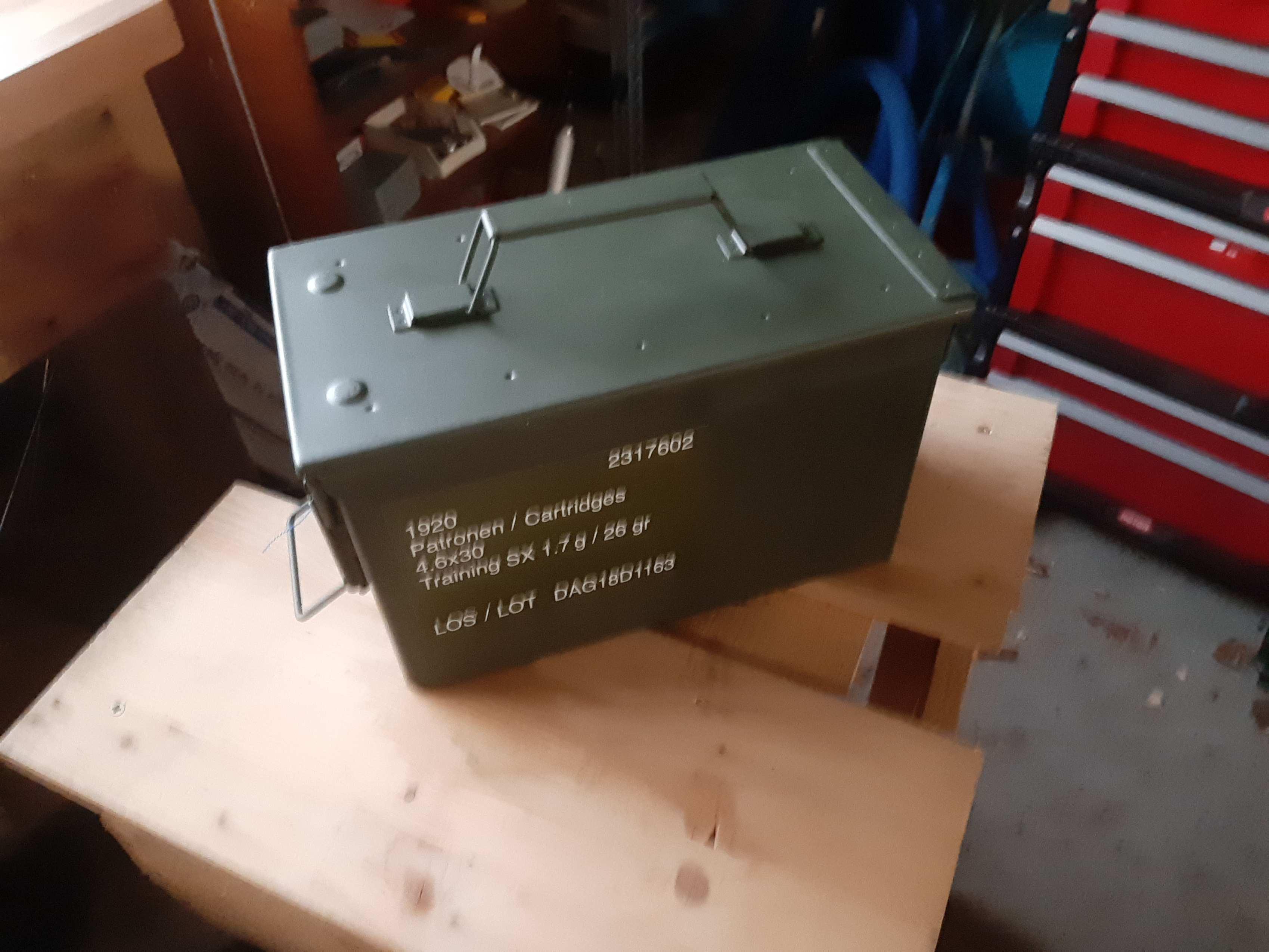 Munitionskiste für 1920 Schuss, 4,7mm