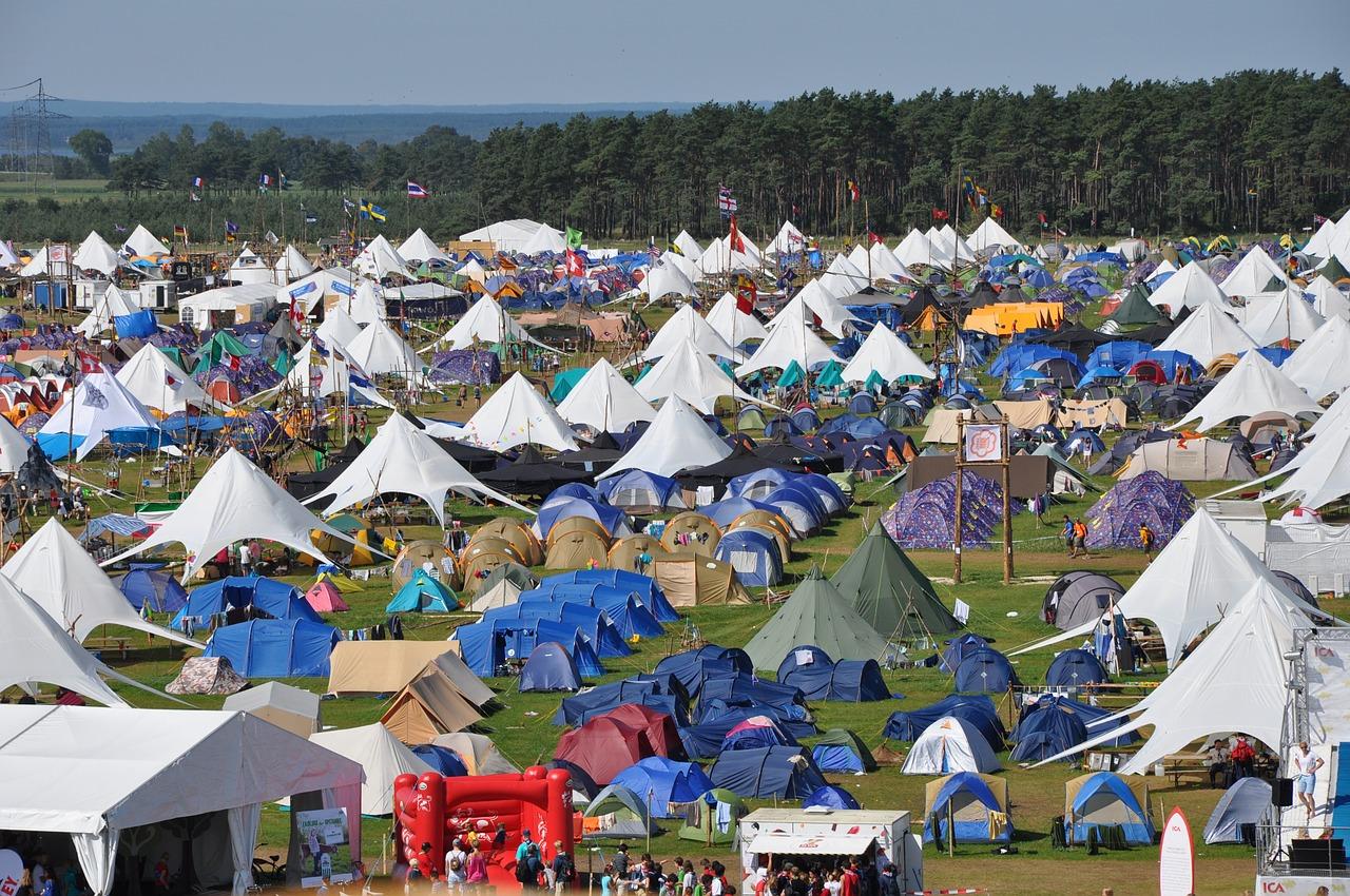 Voller Campingplatz