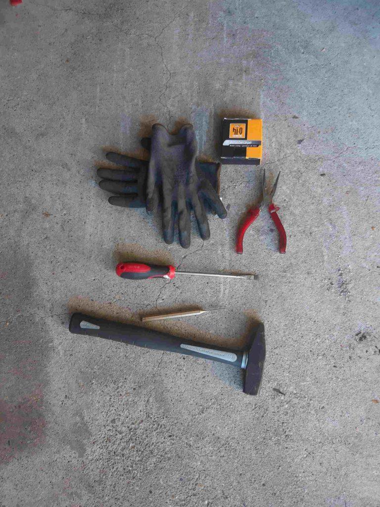 Werkzeuge für den Bremsbelagwechsel