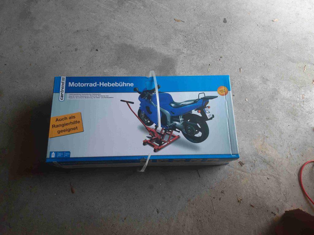 Motorradheber, Versandpaket