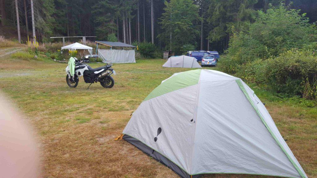die Zeltwiese beim Campingplatz Klingenthal